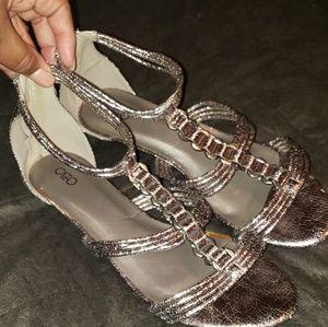 Women's Sandal Cato pewter sliver